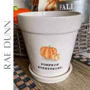 RAE DUNN Pumpkin Everything Halloween Flower Pot